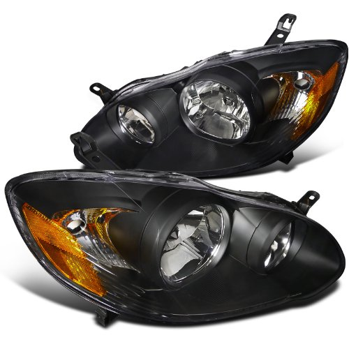 Spec-D Tuning 2LH-COR03JM-RS Toyota Corolla Black Crystal Headlights (Toyota Corolla Wagon Jdm compare prices)