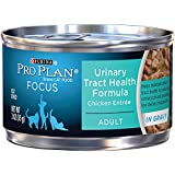 Purina Pro Plan Wet Cat Food, Focus, Adult Urinary Tract Health Formula Chicken Entrée, 3-Ounce Can, Pack of 24