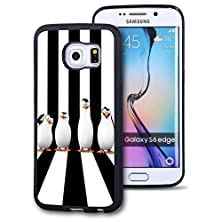 buy Samsung Galaxy S6 Edge Case, Customized Black Soft Rubber Tpu Samsung Galaxy S6 Edge Case Penguins Of Madagascar