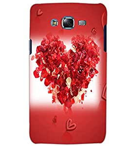 SAMSUNG GALAXY J7 HEART Back Cover by PRINTSWAG