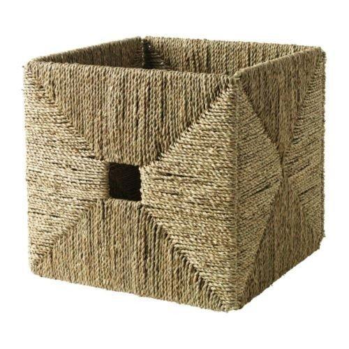 ikea knipsa box handgeflochtener korb aus seegras 32x33x32cm passend f r expedit regal us10. Black Bedroom Furniture Sets. Home Design Ideas