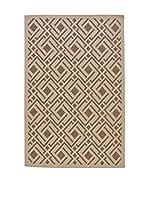 Tapis a Porter Alfombra Casa Sisal Crema/Oro 110 x 170 cm
