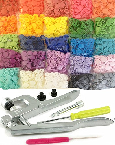 Cheapest Price! 250 Sets 25-Color KAMsnaps Size 20 KAM Snaps & Snap Press Pliers Plastic Snaps N...