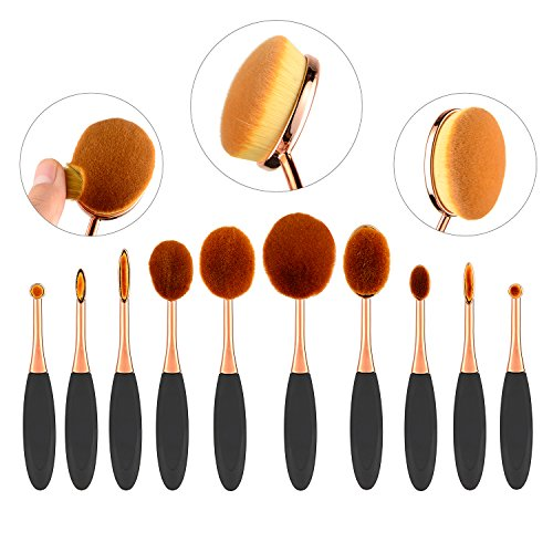 nestlingr10-pieces-professional-oval-makeup-brush-set-foundation-concealer-blending-blush-liquid-pow