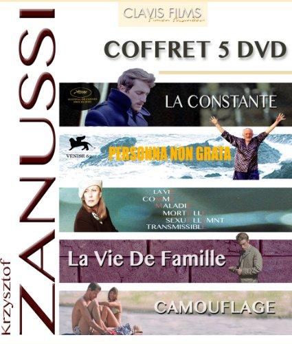 Krzysztof Zanussi - Coffret 5 films : La constante + Persona non grata + La vie comme maladie mortelle sexuellement transmissible + La vie de famille + Camouflage [Francia] [DVD]