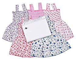 Sathiyas Baby Girls Dresses and Baby Towel (Pack of 6)
