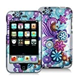 SODIAL(TM) Mixed Funky Flower Design Crystal Hard Skin Case Cover for Apple Ipod Touch iTouch 2nd and 3rd Generation Gen 2g 3g 2 3 8gb 16gb 32gb 64gb