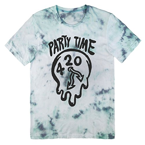 Killer Condo Pastel Grunge Party Time 420 Clock Unisex Tie Dye T-Shirt X-Large (Grunge Tie Dye compare prices)