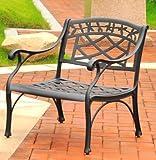Crosley Furniture Sedona Cast Aluminum Club Chair, Charcoal Black