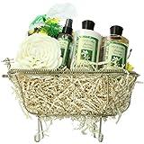 Art of Appreciation Gift Baskets Essence of Jasmine Bathtub Spa, Bath and Body Gift Set