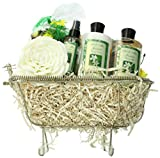 Art of Appreciation Gift Baskets Essence of Jasmine Bathtub Spa, Bath and Body Gift Set