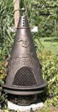 Garden Style Chiminea Cast Aluminum Fireplace (Gas Fueled Natural)