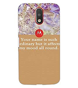 PrintDhaba Quote D-3718 Back Case Cover for MOTOROLA MOTO G4 PLUS (Multi-Coloured)