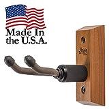 Ukulele Hanger Wooden Wall Mount Made in the USA or Mandolin Hanger - Cherry Hardwood - by String Swing CC01UK-C