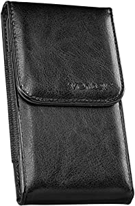 Ventev Universal Faux-Leather Pouch - Extra Large Vertical - Carrying Case - Retail Packaging - Black