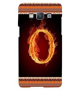Fuson 3D Printed Aphabet O Designer back case cover for Samsung Galaxy E5 - D4205