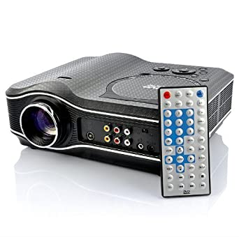 Multimedia LED Projector with Built-in DVD Player, USB port, TV and AV port DVD3880