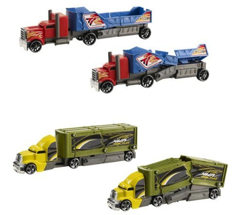 Hot Wheels Crashin' Rig - Red And Blue Transport Truck front-790794