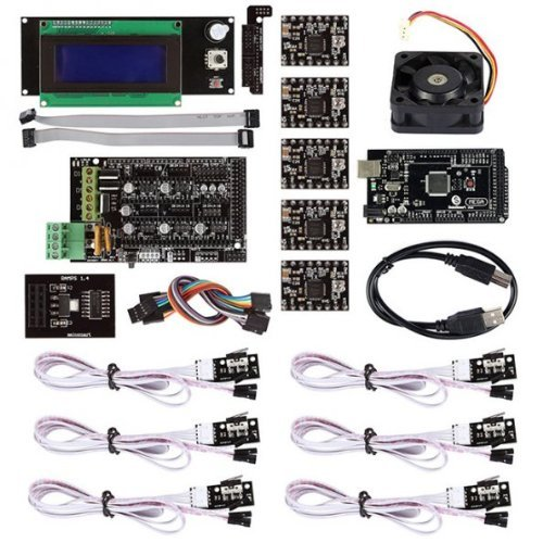 SainSmart RAMPS 1.4 3D Printer Starter Kit with Mega2560 + A4988 + LCD 2004 with Controller + Mechanical Endstop for Arduino RepRap