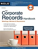 img - for The Corporate Records Handbook: Meetings, Minutes & Resolutions 5th (fifth) Edition by Mancuso Attorney, Anthony published by Nolo (2010) book / textbook / text book