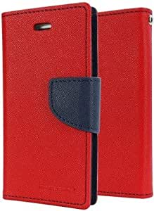 Generic Goospery Mercury Diary Flip Cover for Samsung Galaxy Grand Max G7200 (Red)
