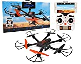 Ei-Hi S19-R Remote Control RC UFO Hexcopter Drone with FPV Camera, Black