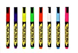 Chalk This Way Liquid Chalk Ink Markers - 3mm Fine Tip For Crisp, Clean Lines. Brilliant Bold Colors. Great Childrens Drawing Chalks. For Chalkboards, Signs, etc