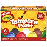 Crayola Tempera Paint Set, 2-Ounce, 6 Count