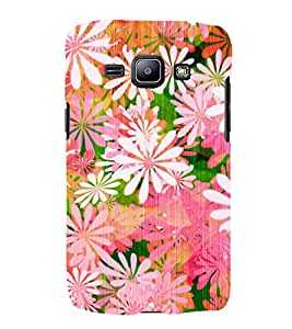 Floral Painting 3D Hard Polycarbonate Designer Back Case Cover for Samsung Galaxy J1 (2016) :: Samsung Galaxy J1 (2016) J120H