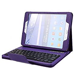 NEWSTYLE Samsung Galaxy Tab S2 9.7 Keyboard Case - Wireless Bluetooth Keyboard Cover For 9.7 inch Galaxy Tab S2 SM-T810 T815 T817 - (w/ Bluetooth Camera Remote Shutter) - Purple Color