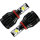 GTX ブラックナイト LEDヘッドライト H16/H8/H11兼用 6000K LEDフォグランプ 36W 3600LM 1年保証