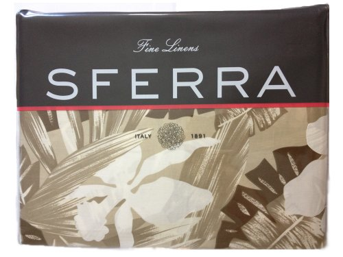 Sferra Fine Linens Italy 1891 Mallory 3230 Twin Duvet Cover - 68X86 - Taupe front-1026256