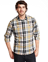 North Coast Pure Cotton Melange Checked Shirt