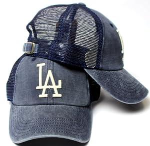 American Needle Los Angeles Dodgers Raglan Bones Soft Mesh Back Slouch Twill Cap by American Needle