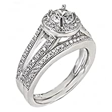buy Jamie: 1.5Ct Iof Cz 2 Pc Split Band Wedding Set With Adaptive Fit Band 925 Silver, 3237 Sz 9.0