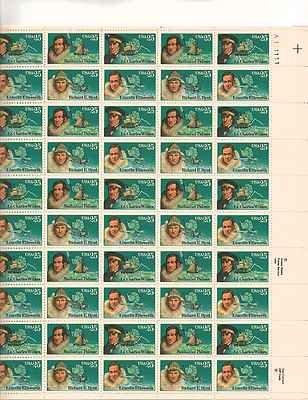 Antarctic Explorers Sheet of 50 x 25 Cent US Postage Stamps NEW Scot 2386-89