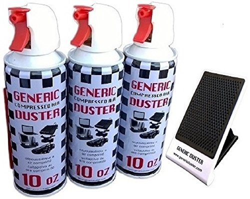 Generic Compressed Air Duster 10oz 3-packs (With a Bonus Cellular Phone Stand of 3.99 Value) (Pizza Pedestal Stand compare prices)