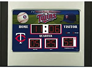 Minnesota Twins Scoreboard Desk & Alarm Clock by Unknown