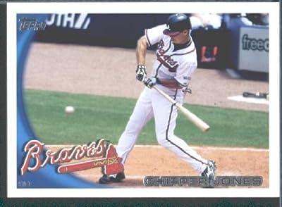 2010 Topps Baseball Card # 652 Chipper Jones - Atlanta Braves - MLB Trading Card