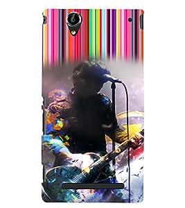 PrintVisa Music Rock star 3D Hard Polycarbonate Designer Back Case Cover for Sony Xperia T2 Ultra