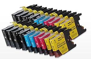20 XL Compatible Catouches d'encre pour Brother LC1280 (8 noir + 4 cyan + 4 magenta + 4 jaune) pour Brother MFC-J5910DW, MFC-J6510DW, MFC-J6710DW, MFC-J6910DW