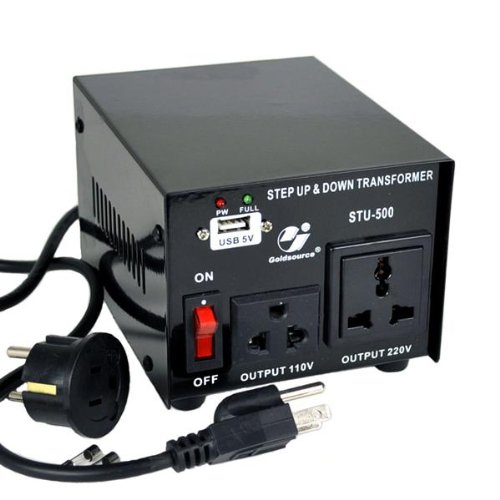Goldsource® Step Up and Down Voltage Converter Transformer ST500 - Transformer - AC 110/220 V - 500 Watt