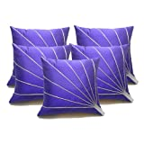 Blooms Ray Blue Cushion Covers 30x30 Cms (Set Of 5)