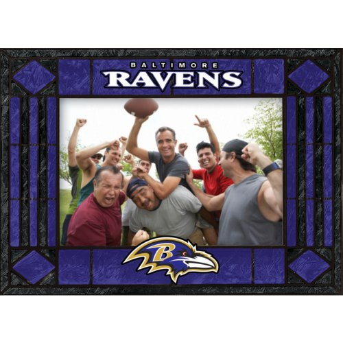 Baltimore Ravens Art Glass Horizontal Frame Picture