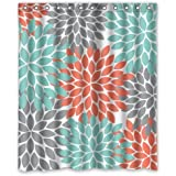 Coral Light Green Gray And White Chevron Zig Zag Pattern Water