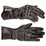 BILT Trackstar Leather Motorcycle Gloves - 3XL, Black