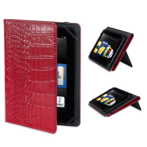 "Verso ""Darwin"" Crocco Standing Cover For Kindle Fire Hd 8.9"", Red Patent (Will Only Fit Kindle Fire Hd 8.9"")"