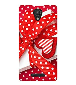 VALENTINES GIFT TIED WITH A RED POLKA DOT RIBBON 3D Hard Polycarbonate Designer Back Case Cover for Xiaomi Redmi 3S :: Xiaomi Redmi 3 :: Xiaomi Redmi 3 (3rd Gen)