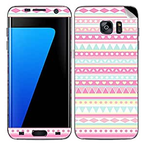 Theskinmantra Pink and blue SKIN/STICKER/DECAL for Samsung Galaxy S7