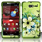 For Motorola Droid RAZR M 4G LTE XT907 (Verizon) Rubberized Design Cover - Hawaiian Flowers